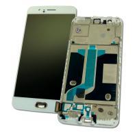 Дисплей OnePlus 5 с сенсором и рамкой, белый (оригинальные комплектующие)