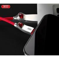Lightning кабель зарядки и синхронизации XO NB22 Dimond для iPhone iPad iPod красный (1000 мм)