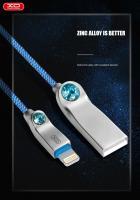 Lightning кабель зарядки и синхронизации XO NB22 Dimond для iPhone iPad iPod синий (1000 мм)