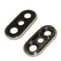 Стекло основной камеры iPhone X с внешним кольцом серебристого цвета (оригинал)