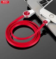 Lightning кабель зарядки и синхронизации XO NB45 CD Grain Zinc Alloy для iPhone iPad iPod красный (1000 мм)