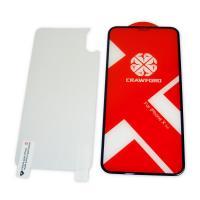 Защитное закаленное стекло XO FD7 для iPhone X / XS / 11 Pro полноэкранное черное 0.26 мм 3D