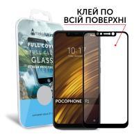 Защитное стекло MakeFuture для Xiaomi Pocophone F1 полноэкранное черное