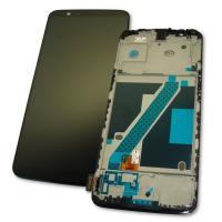 Дисплей OnePlus 5T A5010 с сенсором и рамкой, черный (оригинальная матрица)