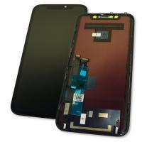 Дисплей iPhone XR с сенсором и рамкой, черный (оригинальные комплектующие)
