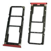 Лоток под SIM и MicroSD карты Mi A2 Lite / Xiaomi Redmi 6 Pro красный (оригинал Китай)