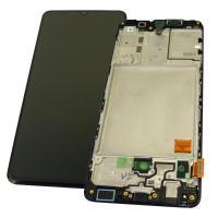 Дисплей Samsung A415F Galaxy A41 2020 с сенсором и рамкой, черный GH82-22860A (оригинал 100%)