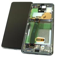 Дисплей Samsung G988 Galaxy S20 Ultra с сенсором и рамкой серого цвета GH82-22271B (оригинал 100%)