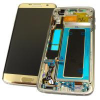 Дисплей Samsung G935F Galaxy S7 Edge с сенсором и рамкой, золотистый GH97-18533C (оригинал 100%)