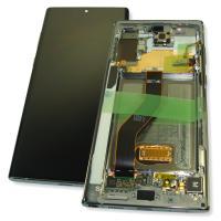 Дисплей Samsung N975F Galaxy Note 10 Plus с сенсором и рамкой серебристого цвета GH82-20838C (оригинал 100%)