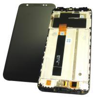 Дисплей Asus ZenFone Max M1 ZB555KL с сенсором и рамкой, черный (оригинальные комплектующие)