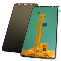 Дисплей Samsung A750F A750G Galaxy A7 2018 с сенсором, черный GH96-12078A (оригинал 100%)