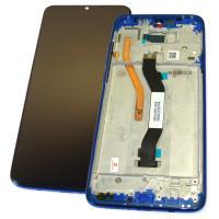 Дисплей Xiaomi Redmi Note 8 Pro с сенсором и рамкой синего цвета (оригинал 100%)