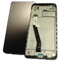 Дисплей Xiaomi Redmi Note 9 с сенсором и рамкой, черный (оригинал 100%)