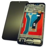Дисплей Samsung A107F A107M Galaxy A10s 2019 с сенсором и рамкой, черный (оригинальная матрица)