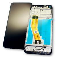 Дисплей Samsung A115F A115M Galaxy A11 2020 с сенсором и рамкой, черный (оригинальная матрица)