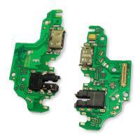 Разъем зарядки Huawei P40 Lite на плате с разъемом под наушники и микрофон (копия AAА)