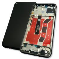 Дисплей Huawei P40 Lite с сенсором и рамкой черного цвета (оригинал Китай)