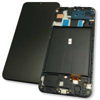Дисплей Samsung A505F A505G Galaxy A50 2019 OLED с сенсором и рамкой, черный (копия ААА)