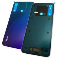 Стекло задней крышки Xiaomi Redmi Note 8 синее (оригинал Китай)