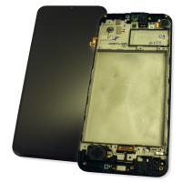 Дисплей Samsung M215F Galaxy M21 2020 с сенсором и рамкой, черный GH82-22509A (оригинал 100%)