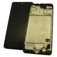 Дисплей Samsung M317F Galaxy M31s с сенсором и рамкой, черный GH81-13736A (оригинал 100%)