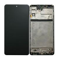 Дисплей Samsung M515F Galaxy M51 2020 с сенсором и рамкой, черный GH82-23568A (оригинал 100%)