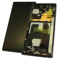 Дисплей Samsung N985F Galaxy Note 20 Ultra с сенсором и рамкой, черный GH82-23495A (оригинал 100%)