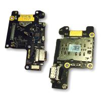 Разъем зарядки Xiaomi Mi9T / Mi9T Pro на плате с компонентами и коннектором SIM карты (оригинал Китай)