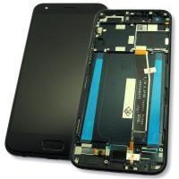 Дисплей Asus ZenFone 4 ZE554KL с сенсором и рамкой, черный (оригинал Китай)