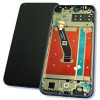 Дисплей Huawei P40 Lite E с сенсором и рамкой синего цвета (оригинальные комплектующие)