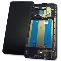 Дисплей Samsung A013F A013G Galaxy A01 Core 2020 с сенсором и рамкой, черный (оригинал Китай)