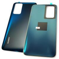 Стекло задней крышки Huawei P40 синего цвета (оригинальные комплектующие)