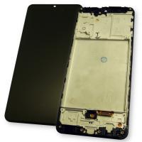 Дисплей Samsung A315F / A315G / Galaxy A31 2020 OLED с сенсором и рамкой, черный (копия ААА)