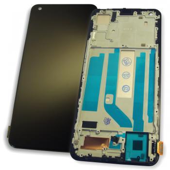 Дисплей Vivo X50 с сенсором и рамкой, черный (TFT)