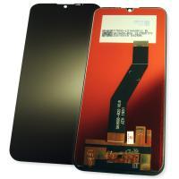 Дисплей Motorola Moto E6s 2020 с сенсором, черный (оригинальные комплектующие)