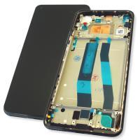 Дисплей Xiaomi Mi 11 Lite с сенсором и рамкой, черный (оригинал Китай)