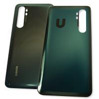 Стекло задней крышки Xiaomi Mi Note 10 Lite черное (оригинальные комплектующие)