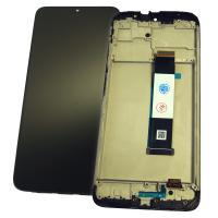 Дисплей Xiaomi Redmi 9T с сенсором и рамкой, черный (оригинальные комплектующие)