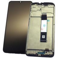 Дисплей Xiaomi Poco M3 с сенсором и рамкой, черный (оригинальные комплектующие)