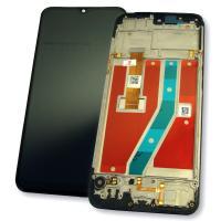Дисплей Realme C2 с сенсором и рамкой, черный (оригинал 100%)
