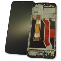 Дисплей Realme C3 с сенсором и рамкой, черный (оригинал 100%)