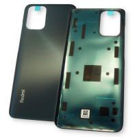 Стекло задней крышки Xiaomi Redmi Note 10 4G черное (оригинал Китай)