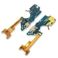 Разъем зарядки Tecno Pop 2F на плате с микрофоном и компонентами (копия AA)