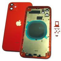 Корпус iPhone 11 полный комплект, красный (оригинальные комплектующие)