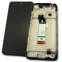 Дисплей Xiaomi Redmi Note 10 5G с сенсором и рамкой, черного цвета (оригинал Китай)