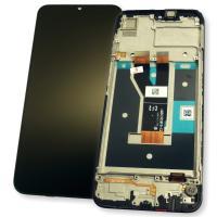 Дисплей Realme C11 2021 с сенсором и рамкой, черный (оригинал 100%)