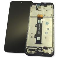 Дисплей Motorola Moto G20 с сенсором и рамкой черного цвета (оригинальные комплектующие)