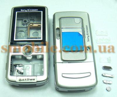 Корпус Sony Ericsson K750 серебристый