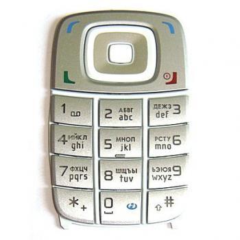 Клавиатура Nokia 6101 серебристая (рус/англ) (оригинал 100%)